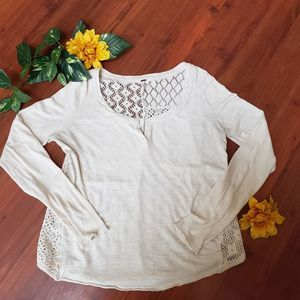 Free People Lace Back Top